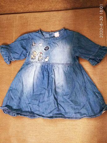 Продам фирменное джинсовое платье р. 104