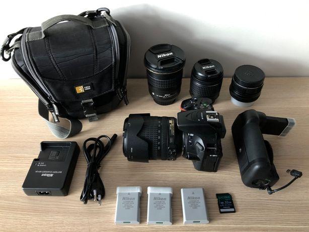 Nikon D5600 + 4 объектива и аксессуары (Nikon AF-S 12-24 mm f/4G)