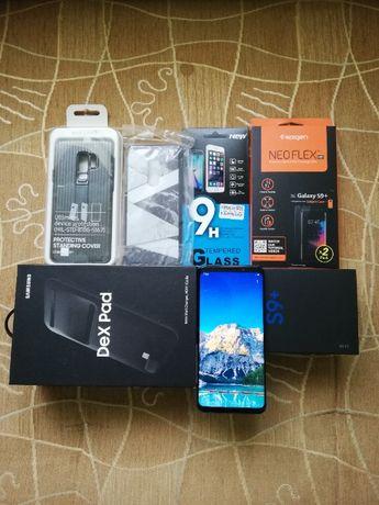 Samsung Galaxy S9 plus +, Stacja DEX Pad, 2x pokrowiec, nowa bateria