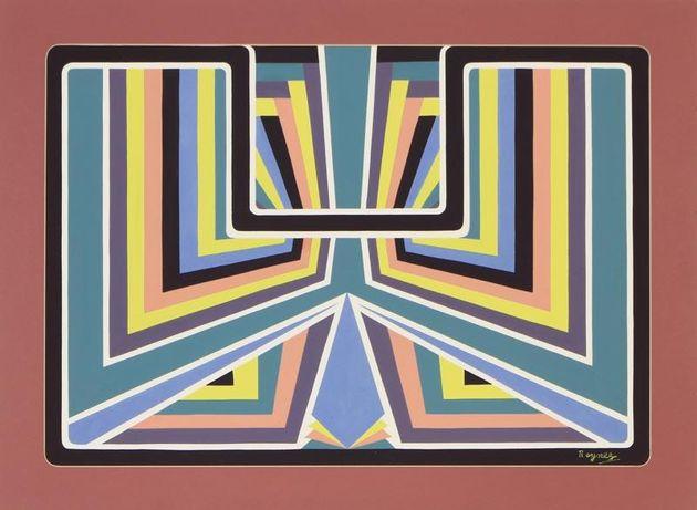 2 x Quadro Desmond Rayner (Inglaterra) - Pintura guache