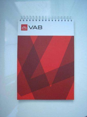 Блокнот VAB банка