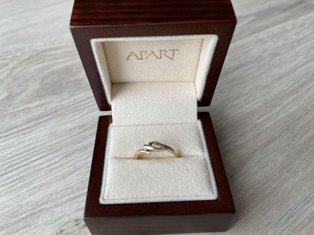 Apart pierścionek zaręczynowy diament 14k złoto