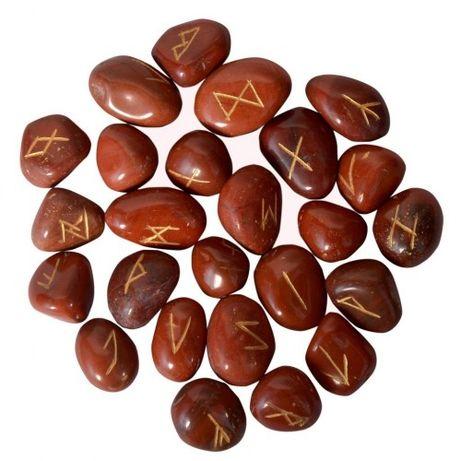 Руны из камня красная яшма