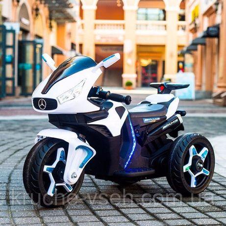 Детский электромобиль Мотоцикл M 3965, Mercedes, EVA колеса, кожа