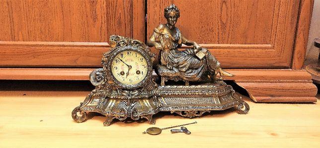 Niespotykany, piękny, zegar kominkowy ,Francja