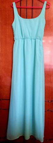 Платье. Платье в пол. Бирюзового цвета