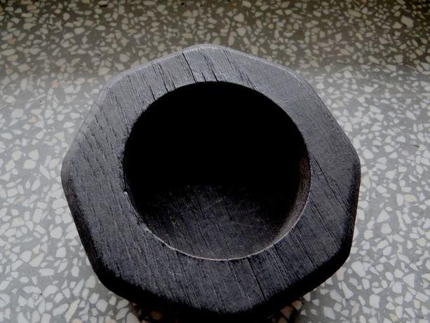Zabytkowa papierośnica drewniana czarna używana .Roz .12.5cm