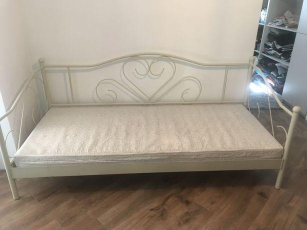 Łóżko metalowe 90x200 z materacem