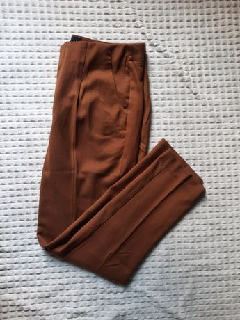 Spodnie cygaretki brązowe mohito