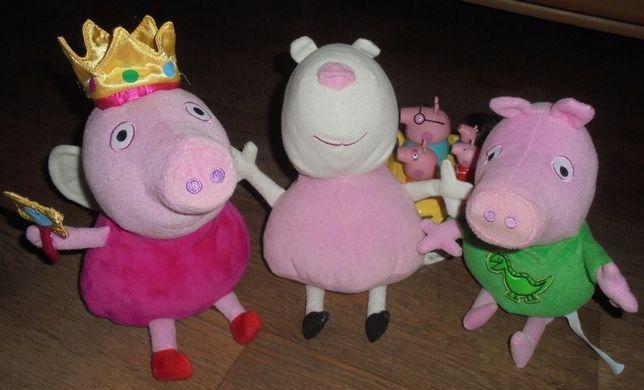 Мягкая большая игрушка Пеппа Свинка Овечка Сьюзи Джордж Peppa pig ори