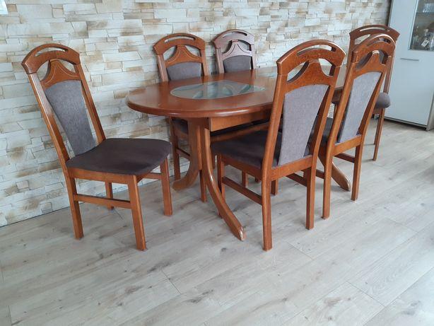 Stół 6 krzeseł + stolik kawowy
