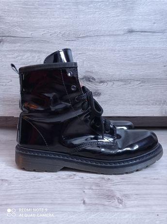 Czarne buty ala martensy glany świetny stan rozmiar 41