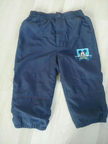 dresy spodnie myszka mickey disney 12-18 next ubranka 80-86 zestaw h&m