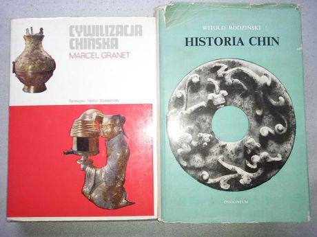 Historia Chin i Cywilizacja chińska 2 książki. Stan bdb-