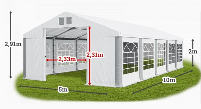 Шатер ПВХ 5х10 для кафе или бара, палатка павильон тент склад гараж