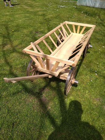 Wóz drabiniasty, kwietnik, łóżko drewniane, sztachety, stolarka