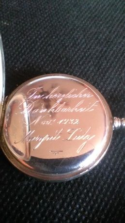 stare srebro 925 zegarek kieszonkowy z dewizką.