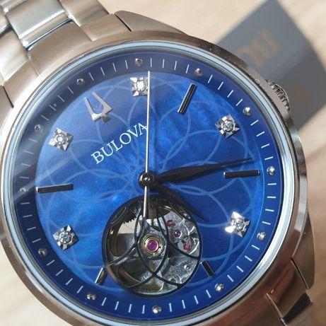 Новые Женские часы с Бриллиантами BULOVA BUL96P191
