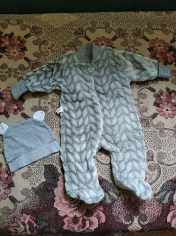 теплый костюм от 0 до 3 месяцев
