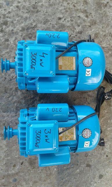 Електродвигун 2.2, 3, 4 кВт 220В электродвигатель kw электромотор