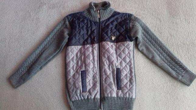 Rozmiar 152/158 kurtka sweter na zewnątrz odcienie szarości