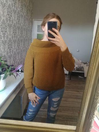 Sweter h&m musztardowy kolor