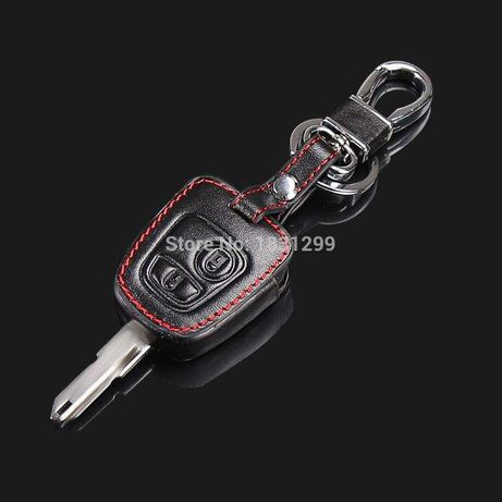 Proteção chave Peugeot / Citroen em couro