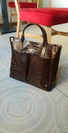 Новый кожаный шопер, кожаная сумка