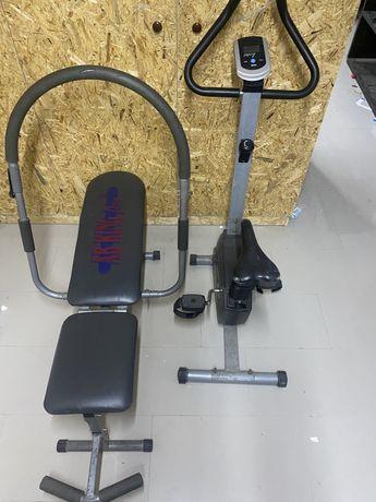 Bicicleta de ginastica mais maquina de abdominais
