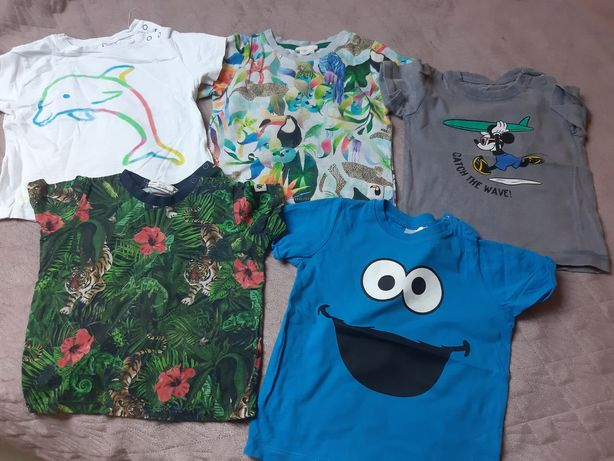 Koszulki dla chłopca, H&M, Reserved, Zara