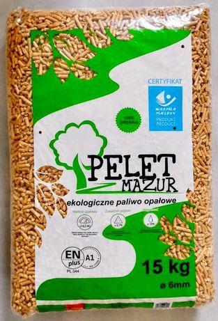 Pellet drzewny z MAZUR ENplus A1 - iglasty wysoka jakość 1050 kg pal.