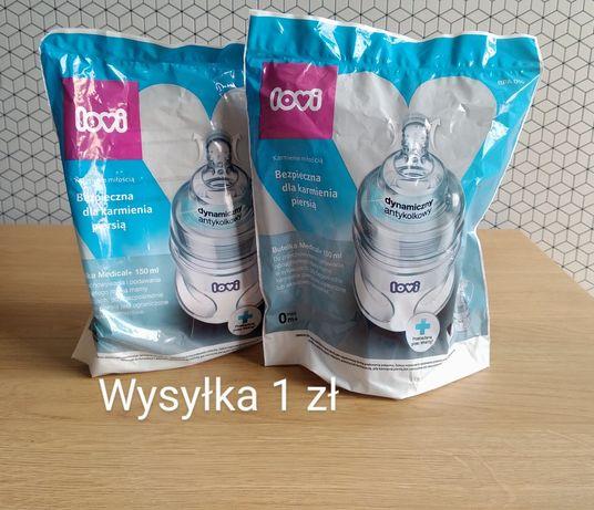 2 szt nowe butelki LOVI Medical+ 150 ml antykolkowa dynamiczny smoczek