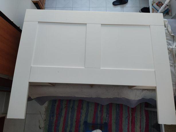 Cabeceira com arrumação BRIMNES (IKEA), Branco, 140 cm
