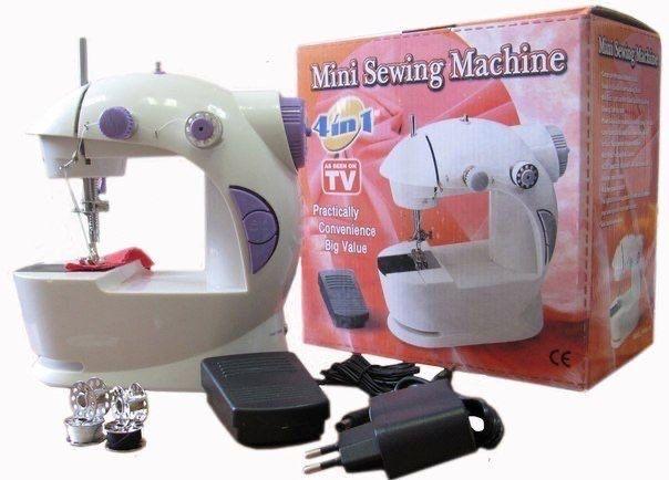 Портативная мини швейная машинка zimber 4 в 1 электрическая ручная