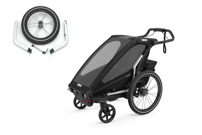 od ręki Thule Chariot Sport 1 z kołem do biegania przyczepka rowerowa