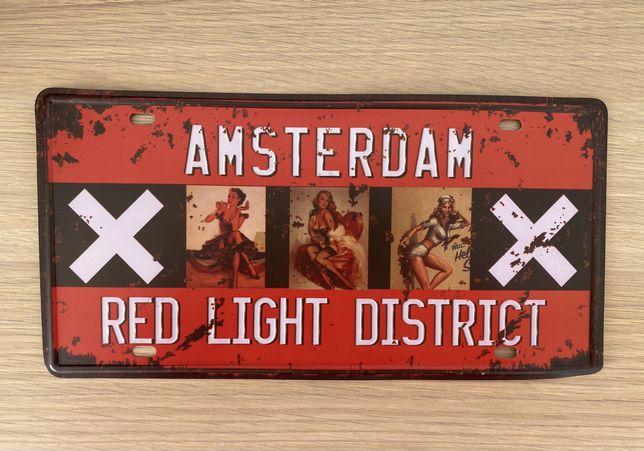 Placa Metal / Matricula AMSTERDAM Red Light District (nova)