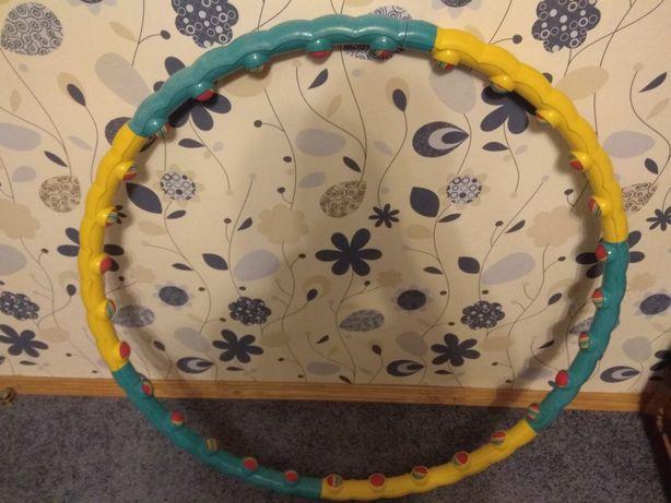 Хулахуп массажный, обруч с массажными шариками