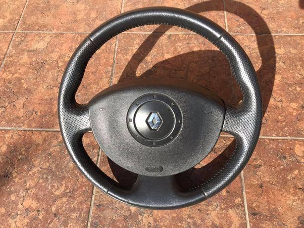 Renault Megane Scenic 2 Kierownica skórzana airbag piękny stan