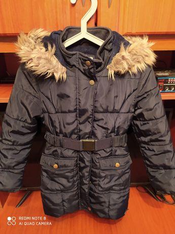 Зимняя детская куртка на девочку