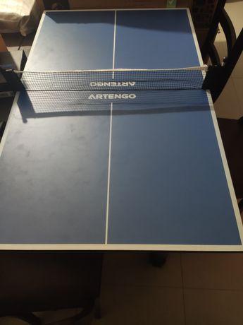 Mini mesa ping pong + 2 raquetes e bolas