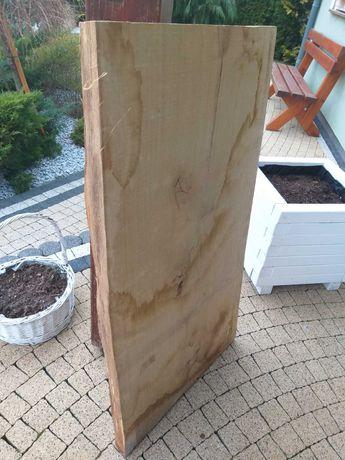 Deska sucha dębowa 100cm dĺuga 55 szerokz 5 cm gruba