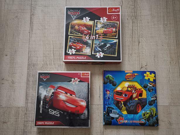 Zestaw puzzli dla 4-latka Blaze Auta Cars + domino obrazkowe