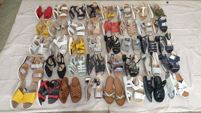 Микс женские босоножки Caprice сток обуви оптом взуття