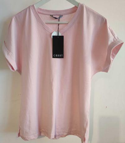 Koszulka carry różowa XS oversize