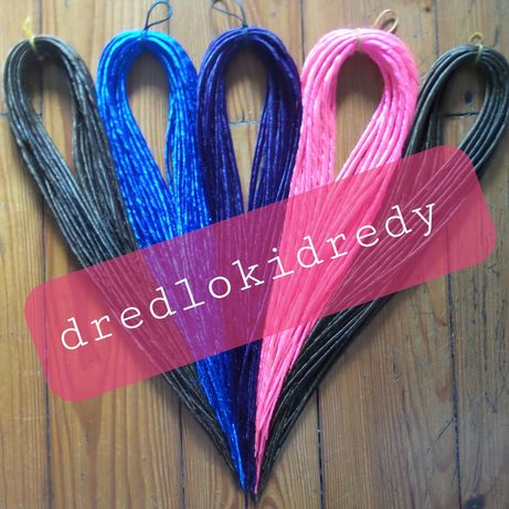 Dredloki dredy zestaw na cala glowe recznie skręcane dreadloks dread