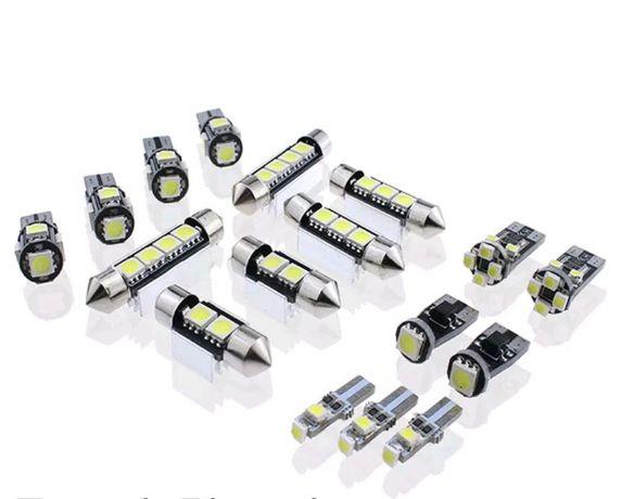 Luzes interiores em led brancas para bmw e90 e91 e92 e60 e61