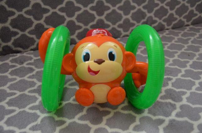 Bright starts fikająca małpka interaktywna edukacyjna nauka raczkowani