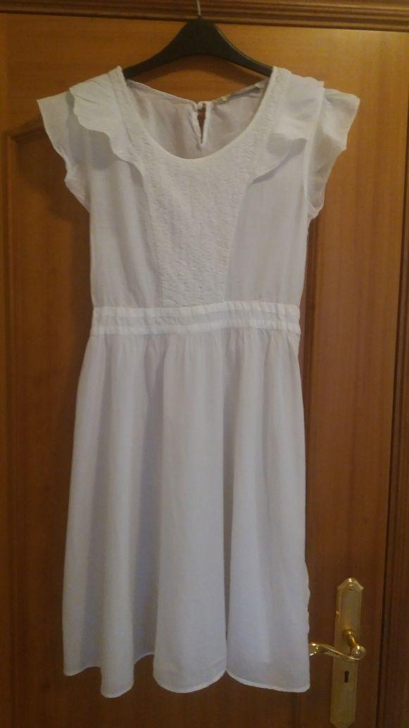 Zara vestido verão branco Tam L