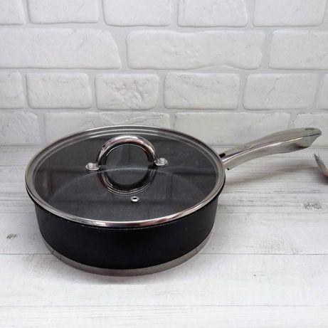Сковорода, сотейник из нержавеющей стали Edenberg EB-4062 24см