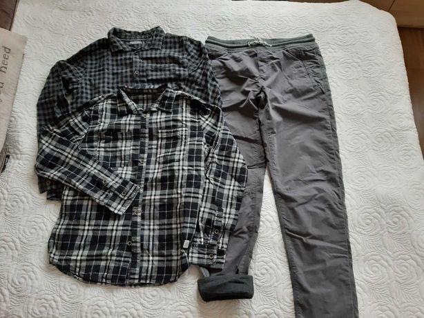 Zestaw spodnie + dwie koszule chlopięce na 164 cm